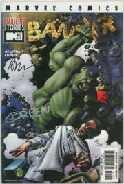 Banner #1 Dynamic Forces Signed Azzarello & Corben DF COA Incredible Hulk Marvel comic book